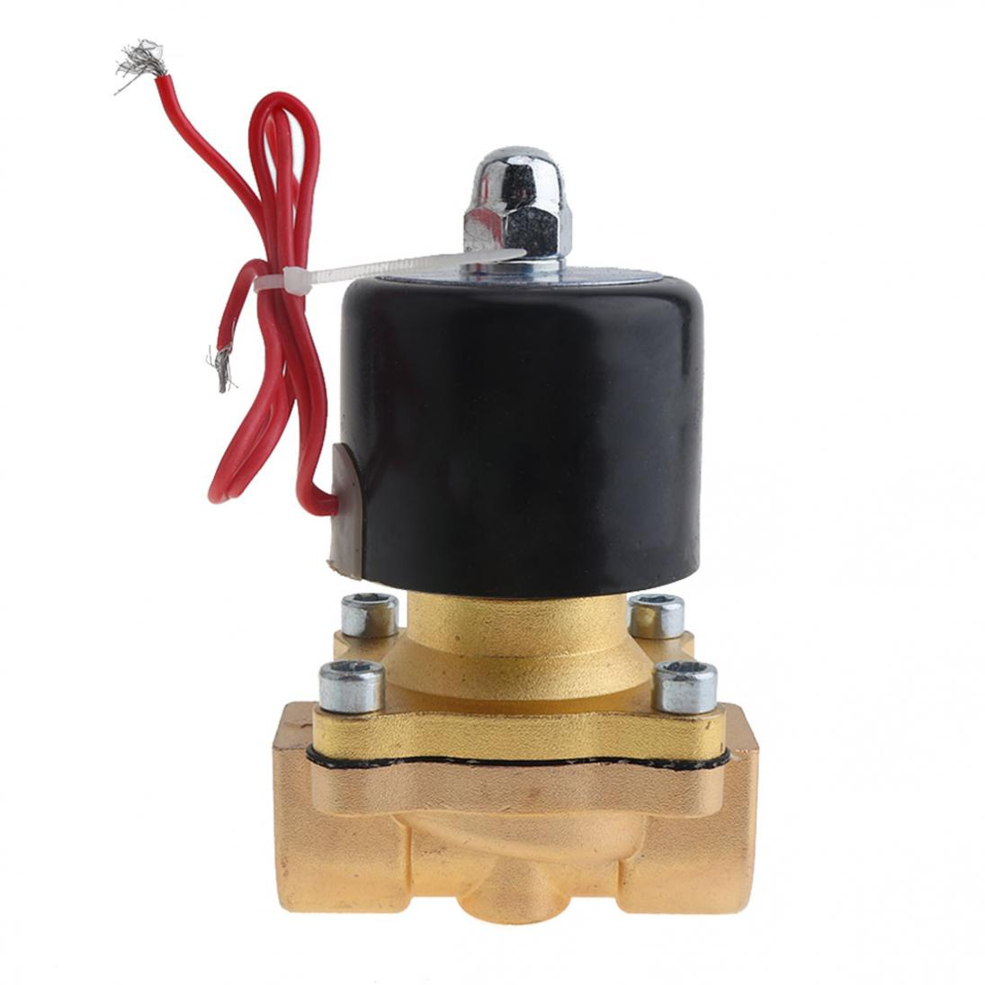 1-2-039-039-DC12-Brass-Electric-Solenoid-Valve-N-C-Gas-Water-Fuel-Air-Solid-Coil-New thumbnail 2