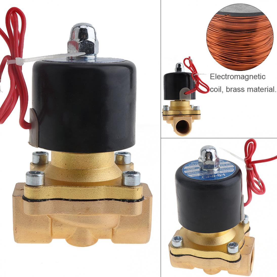 1-2-039-039-DC12-Brass-Electric-Solenoid-Valve-N-C-Gas-Water-Fuel-Air-Solid-Coil-New thumbnail 5