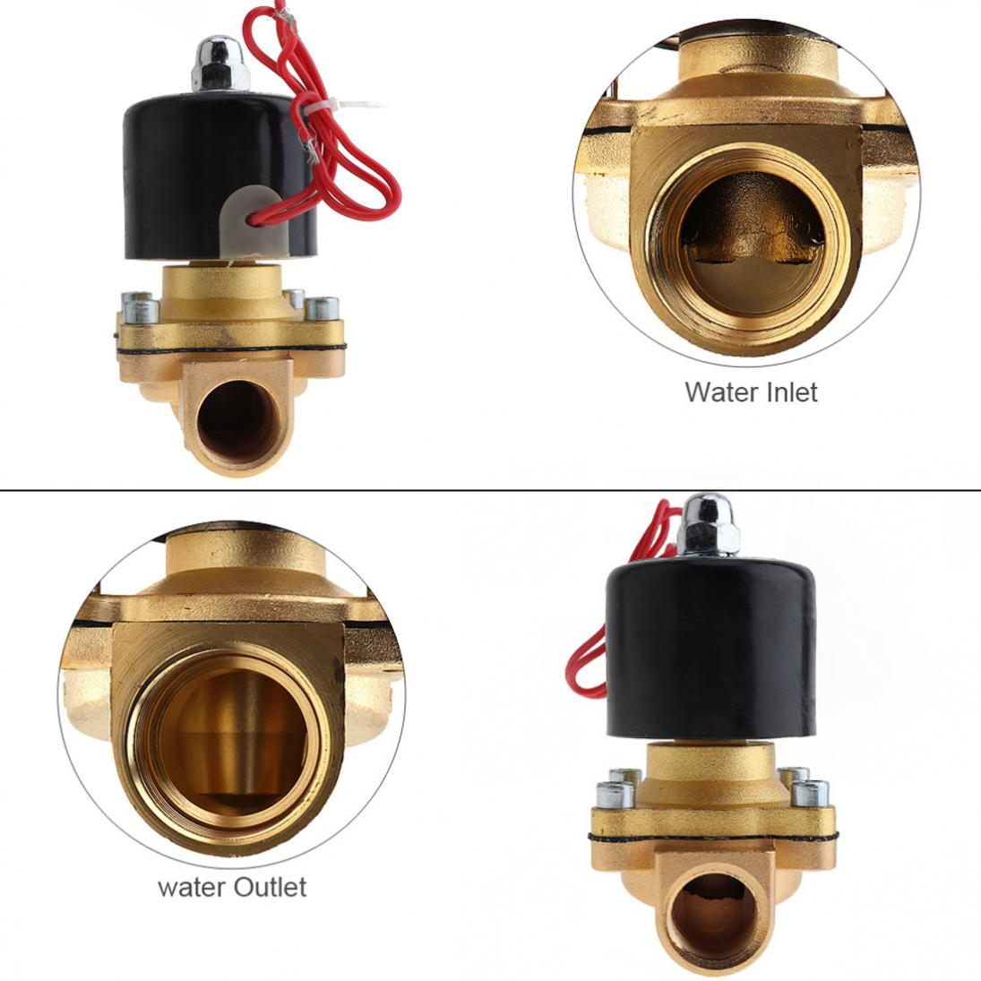 1-2-039-039-DC12-Brass-Electric-Solenoid-Valve-N-C-Gas-Water-Fuel-Air-Solid-Coil-New thumbnail 8