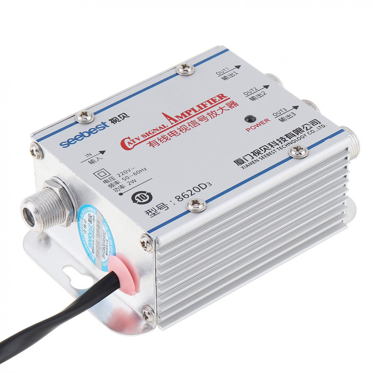 Signal-Amplifier-45-860MHz-1-In-3-Out-CATV-VCR-20DB-TV-Antenna-Booster-Splitter thumbnail 6