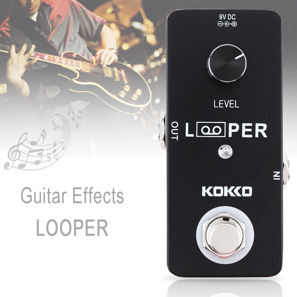 KOKKO Mini Electric Guitar Guitar Guitar Bass Effects Pedal LOOPER Recording Support Record 70f002