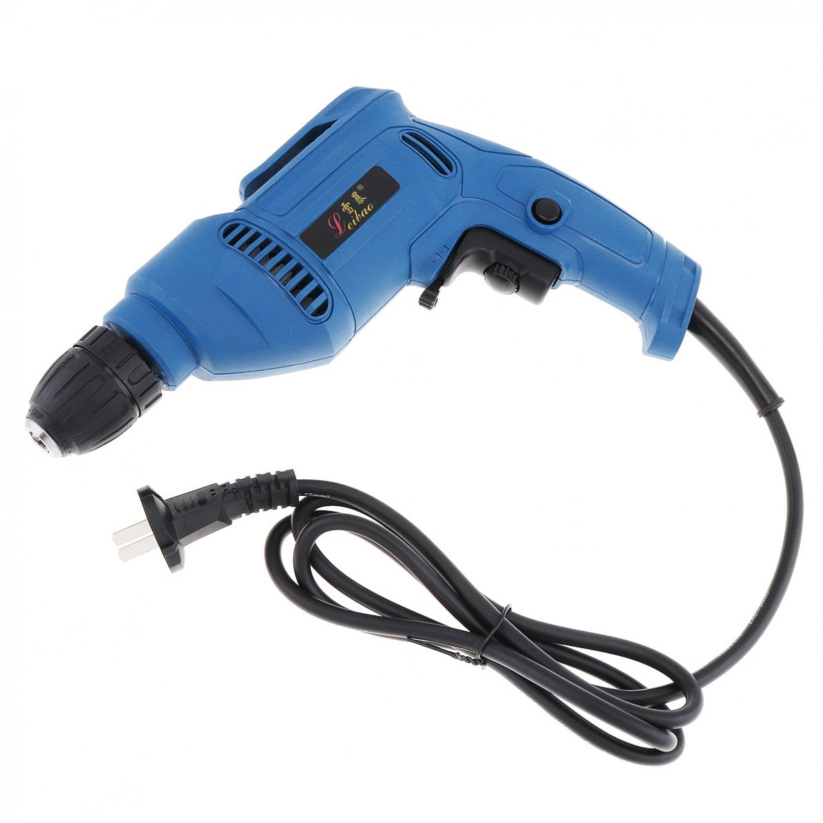 220V-600W-Handheld-Electric-Impact-Wrench-Drill-Screwdriver-w-10mm-Drill-Chuck miniature 2