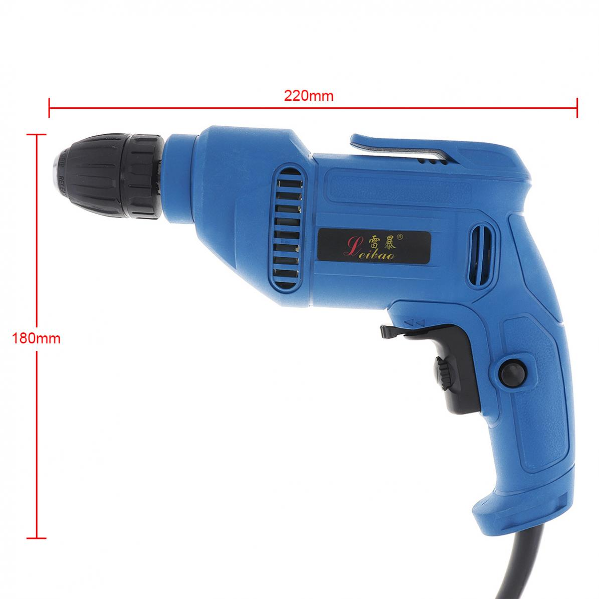 220V-600W-Handheld-Electric-Impact-Wrench-Drill-Screwdriver-w-10mm-Drill-Chuck miniature 3