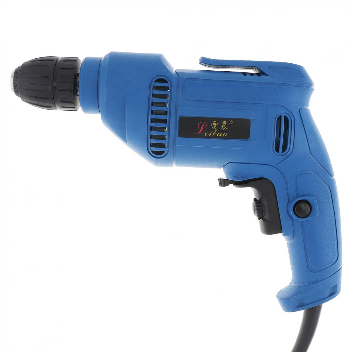 220V-600W-Handheld-Electric-Impact-Wrench-Drill-Screwdriver-w-10mm-Drill-Chuck miniature 10