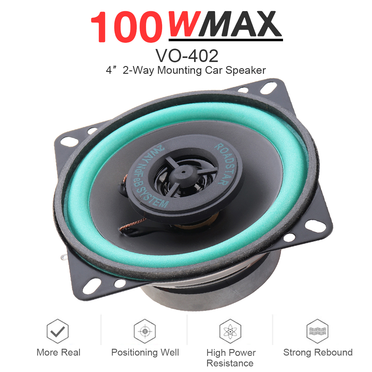 4'' 100W Music Stereo Full Range Frequency Car Audio Door Hi