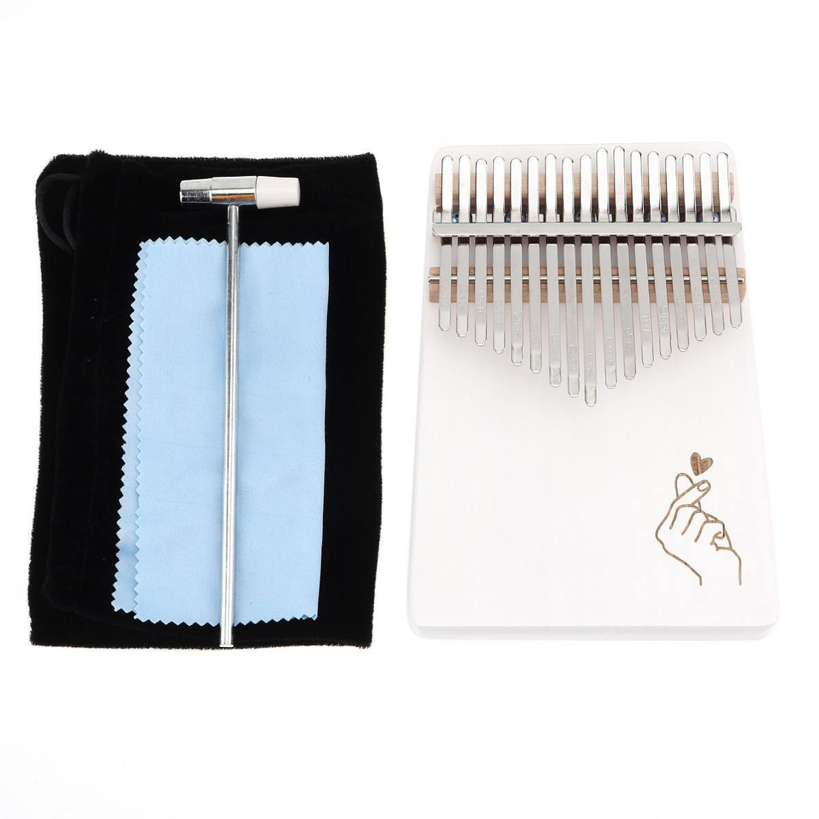 17-Key-Kalimba-Thumb-Piano-Solid-Finger-Piano-Single-Board-Pine-Mbira-Keyboard thumbnail 11