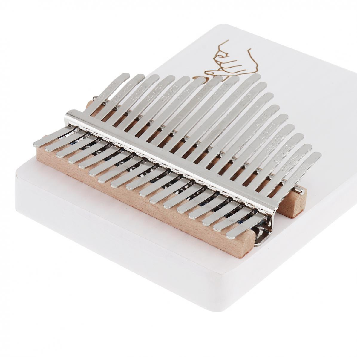 17-Key-Kalimba-Thumb-Piano-Solid-Finger-Piano-Single-Board-Pine-Mbira-Keyboard thumbnail 6