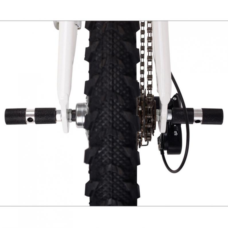 BIKE BICYCLE CYCLING FOLDABLE Steel Front Axle Foot Pegs BMX
